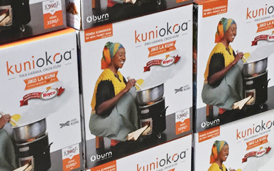Kuniokoa cookstove box