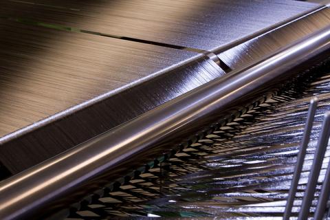 Closeup of carbon fiber