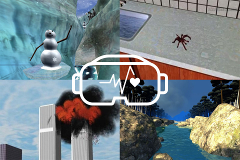 A collage of four VR images
